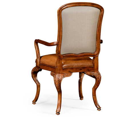 Jonathan Charles - Walnut Arm Chair - 499180