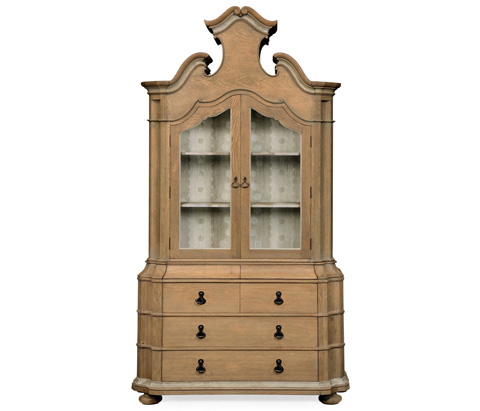 Jonathan Charles - Oulton Cabinet with Glass Doors - 530087
