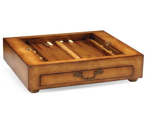Jonathan Charles - Satinwood Games Box with Drawer - 492241
