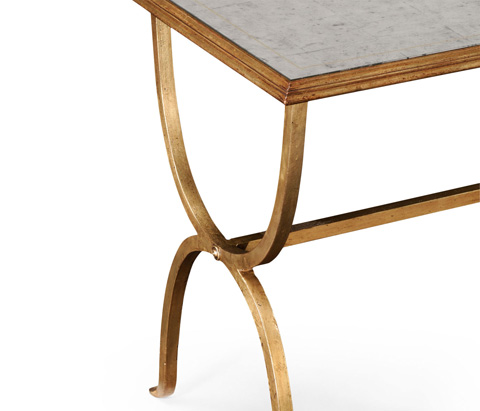 Jonathan Charles - Gilded Iron Rectangular Side Table - 494036-G