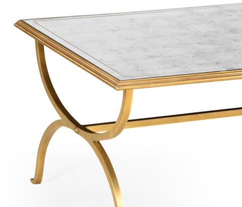 Jonathan Charles - Gilded Iron Coffee Table - 494060-G