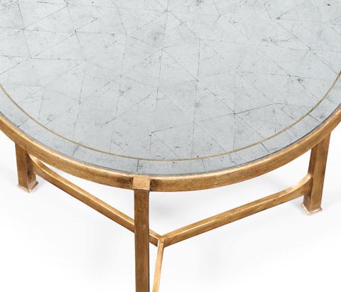 Jonathan Charles - Gilded Iron Lamp Table - 494140-G