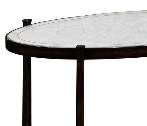 Jonathan Charles - Bronze Iron Three-Tier End Table - 494171-B