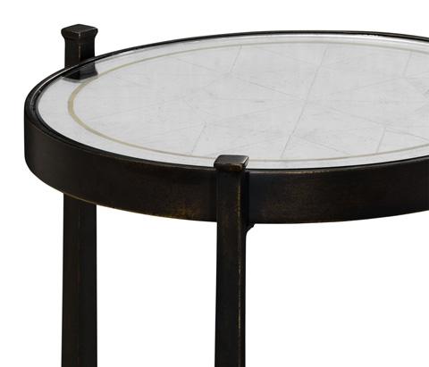 Jonathan Charles - Bronze Iron Wine Table - 494173-B