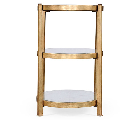 Jonathan Charles - Gilded Iron Three-Tier End Table - 494174-G