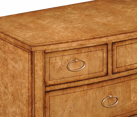 Jonathan Charles - Biedermeier Bow Front Chest Of Drawers - 494300