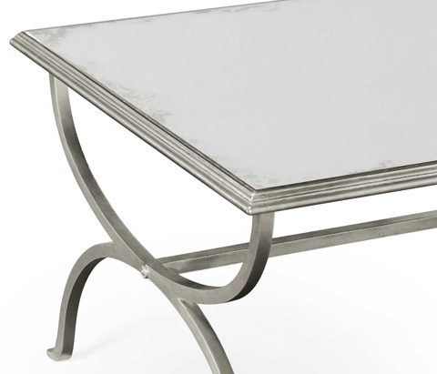 Jonathan Charles - Silver Coffee Table - 494675-S