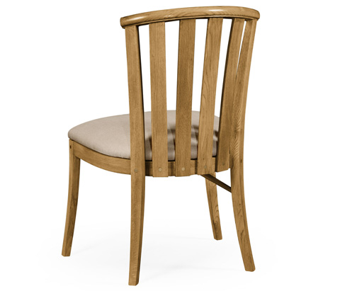 Jonathan Charles - Light Oak Side Chair with Curved Back - 494901-L