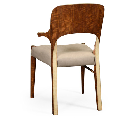 Jonathan Charles - Hyedua and Ivory Finish Arm Chair - 494906-CO1