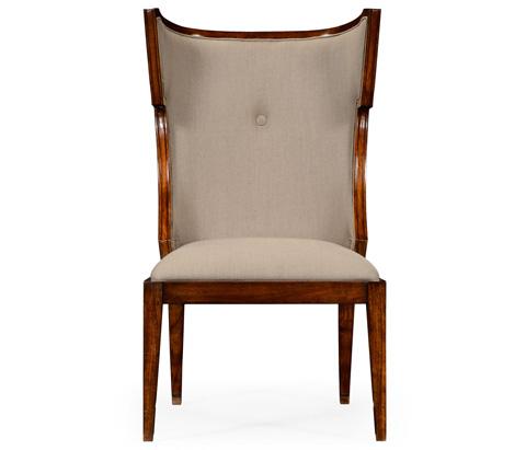 Jonathan Charles - Greek Key Design Biedermeier Walnut Side Chair - 495047-WAL-SC