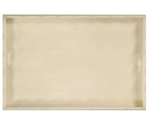Jonathan Charles - Linen Painted Tray With Scalloped Edge - 495075-LIN