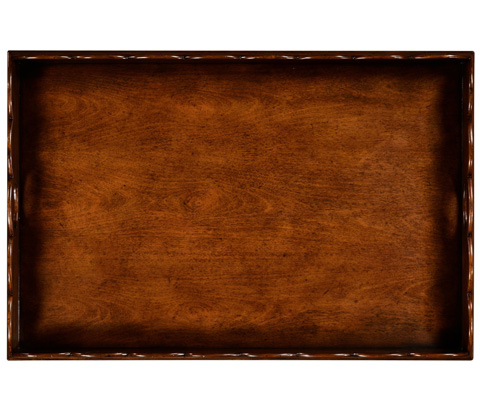Jonathan Charles - Walnut Tray With Scalloped Edge - 495075-WAL
