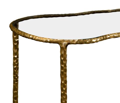 Jonathan Charles - Brass Hammered Freeform Lamp Table - 495083-BRA