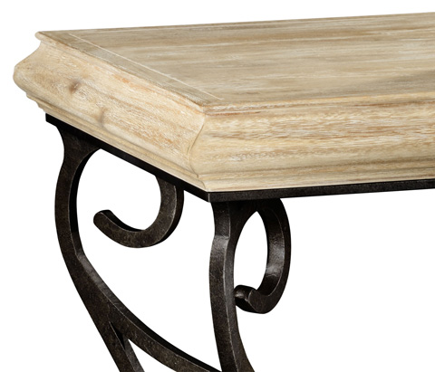 Jonathan Charles - Limed Wood Square Side Table - 495178-LMA