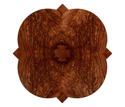 Jonathan Charles - Walnut Twisted Quatrefoil Side Table - 495190-WLL