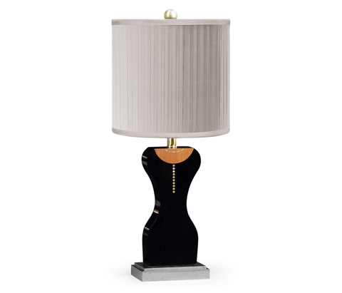 Jonathan Charles - String Of Pearls And Little Black Dress Lamp - 495367