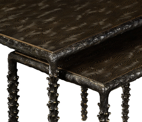 Jonathan Charles - Delamere Bronze End Table - 530085
