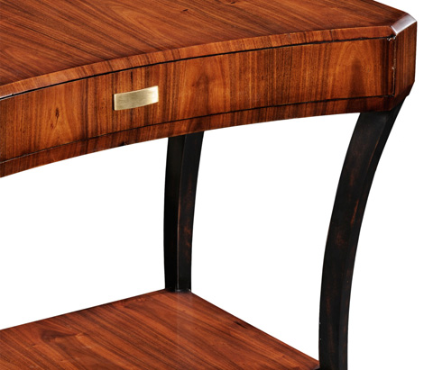 Jonathan Charles - Art Deco Rectangular Side Table - 494085-SAH-BRS