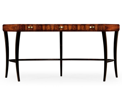 Jonathan Charles - Art Deco Curved Desk - 494089-SAH-BRS
