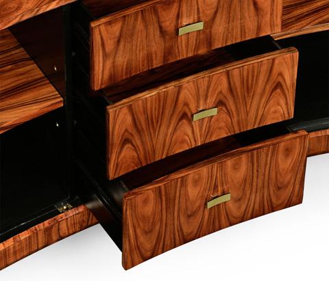 Jonathan Charles - Art Deco Curved Sideboard - 494326-SAH-BRS