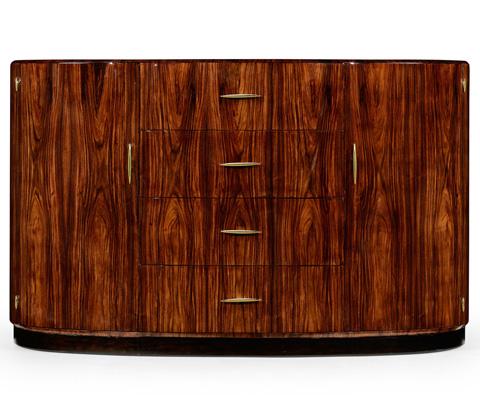 Jonathan Charles - Art Deco Demilune Sideboard - 494339-SAH-BRS