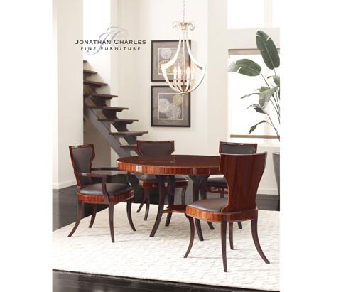 Jonathan Charles - Art Deco Side Chair - 494587-SAH