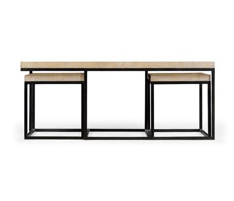Jonathan Charles - Rectangular Coffee Table in Limed Acacia - 495422-LMA