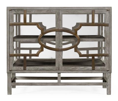 Jonathan Charles - Hewlett Glazed Accent Cabinet - 530100-GO