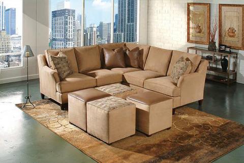 King Hickory - Melrose Fabric Conversation Sofa - 1465