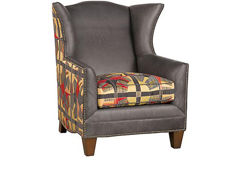 King Hickory - Athens Fabric and Leather Arm Chair - 50771-LF