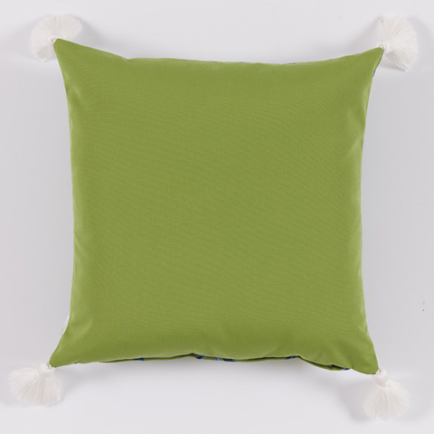 Lacefield Designs - Ginko Green BlueBamboo Thread Print Pillow - OUT25