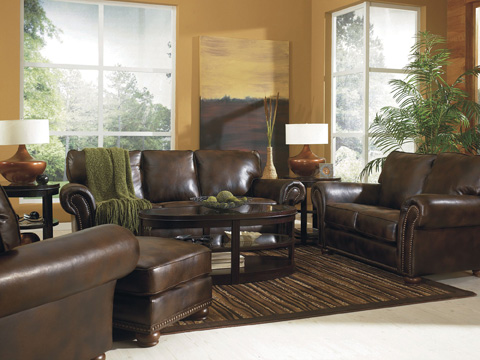 Image of Benson Faux Leather Ottoman