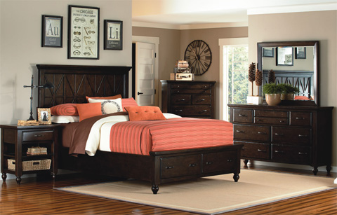 Legacy Classic Furniture - Thatcher Queen Storage Bed - 3700-4105SK