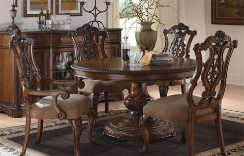 Legacy Classic Furniture - Pierced Back Arm Chair - 3100-141 KD