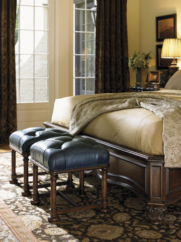Lexington Home Brands - Eaton Leather Ottoman - LL1532-44