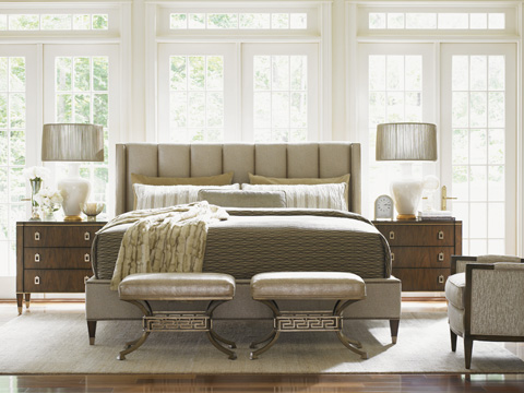 Lexington Home Brands - Barrington Upholstered King Platform Bed - 706-144C