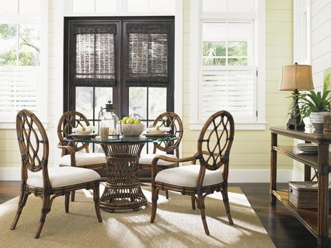 Tommy Bahama - Cedar Key Oval Back Arm Chair - 593-887-01