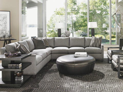 Lexington Home Brands - Claudia Leather Ottoman - LL7493-44