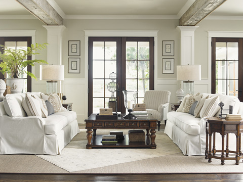 Lexington Home Brands - Stowe Slipcover Sofa in Cream - 7476-33CR