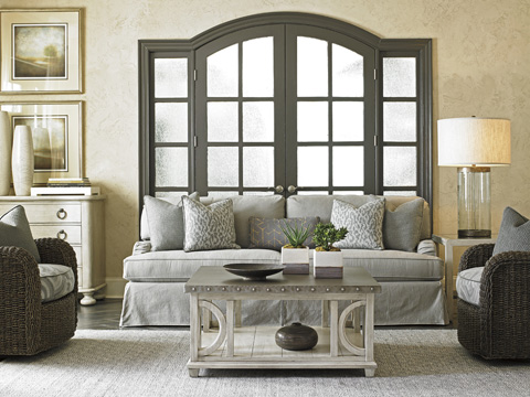 Lexington Home Brands - Stowe Slipcover Sofa in Gray - 7476-33GY