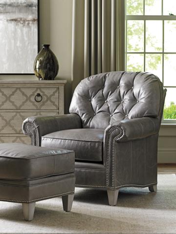 Lexington Home Brands - Bayville Leather Ottoman - LL7935-44