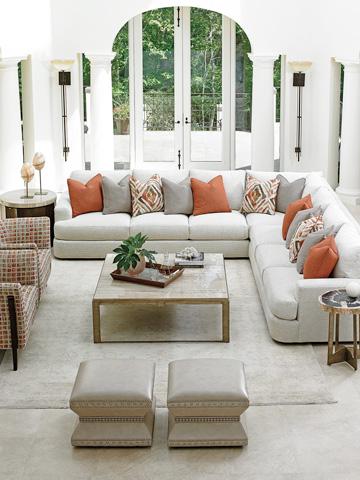 Lexington Home Brands - Wheatley Leather Ottoman - LL7112-44AA