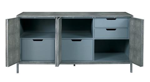 Lillian August Fine Furniture - Ford Shagreen Console in Charcoal - LA97353-01