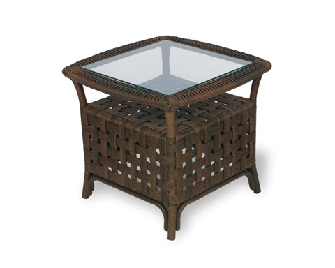Lloyd Flanders - Haven End Table with Set In Glass - 43043
