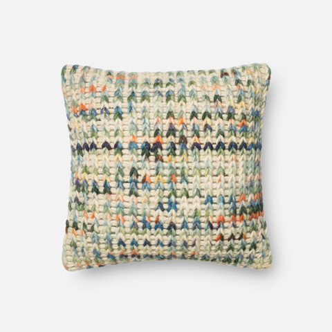 Loloi Rugs - Green and Multi Pillow - P0226 GREEN / MULTI
