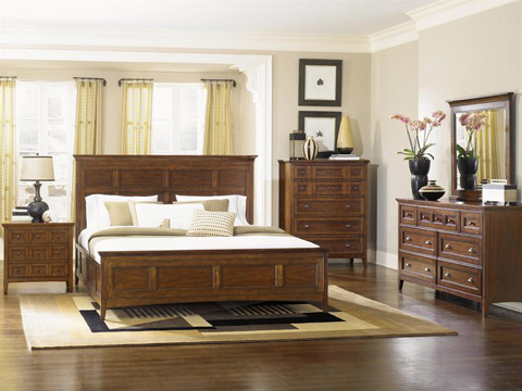 Image of Harrison Three Drawer Cherry Nightstand