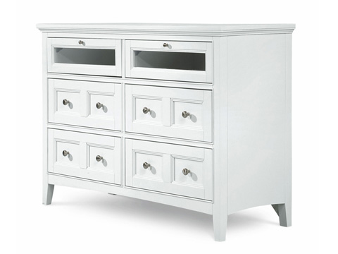 Image of Kentwood White Four Door Media Chest