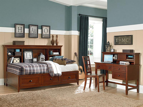 Image of Riley Cherry Two Drawer Nightstand