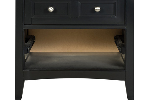 Magnussen Home - Bennett Black Two Drawer Nightstand - Y1874-01