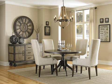 Image of Rectangular Dining Table with Casters